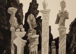 Люди и скульптуры. 1970-е